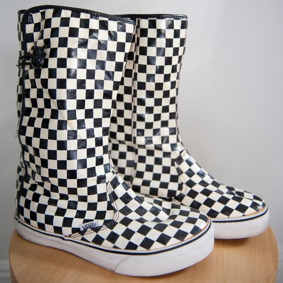 c2ace3f046 vans checkered rain boots. M 5c1433bfa31c33923cfbb446